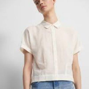 Theory Cropped Button down